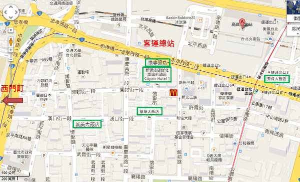 taipei station map