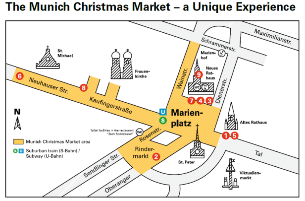 munich christmas market map